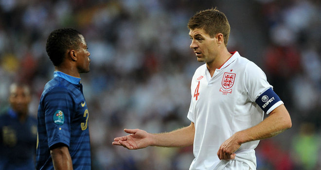 Evra frustrated by England