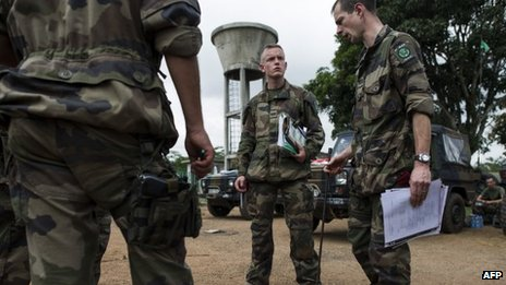 French troops in CAR airport clash