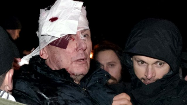 Ukraine ex-minister hurt in clashes