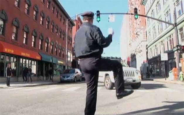 Video: Watch the dancing traffic cop from Providence, RI
