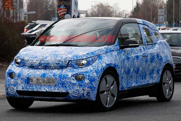 Spy Shots: BMW i3 continues to shed camo as it whirs silently toward production