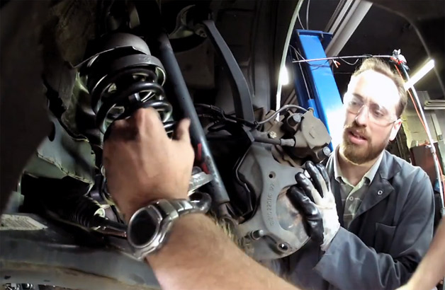 Video: This is what happens when a coil spring compressor fails