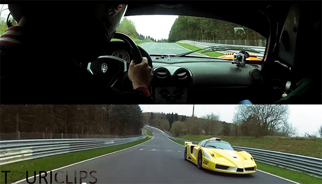 Video: Watch Edo Competition pit a Ferrari FXX against a Maserati MC12 Corsa on the 'Ring