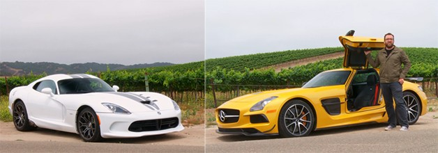 Video: SRT Viper dukes it out with Mercedes SLS Black Series in new Head 2 Head