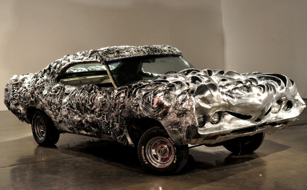 ETC: This is what a 3D-printed liquid metal Ford Torino looks like
